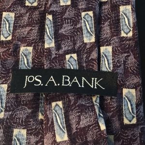 Jos. A. Bank Accessories - Jos A Bank Men's Necktie 100% Silk Purple Blue (K)